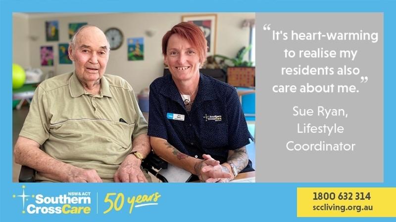 Sue is bringing smiles to Leeton residents