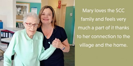 Mary is very connected to the SCC family