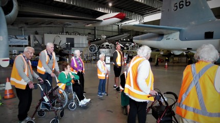 Nagle Residential Aged Care residents visit the HARS Aviation Museum